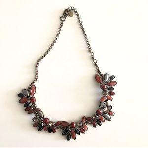 LOFT Floral Cluster Collar Necklace